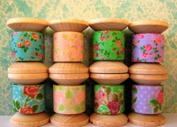 "Washi tape Mini Spool Bouquet ""Shabby Chic""."
