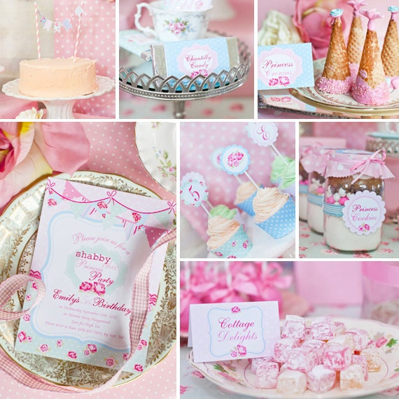 Shabby Chic Princess Party Theme