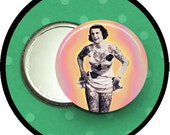 """sideshow tattooed Lady 2.25 inch pocket MIRROR, button or magnet 2 1/4"""" size"""