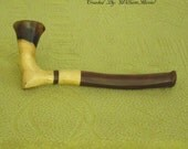 Handmade Sculpted Persimmon ArtWood Pipe