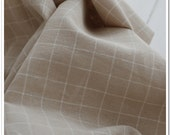 Cotton Linen Blend Fabric Natural Color Yarn Dyed Check Fabric for DIY,Handcraft Cushion,Sofa,Curtain