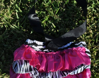 Zebra Print  Bloomers with Bow