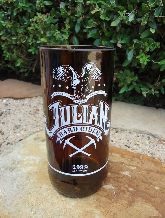 RARE Recycled Beer Bottle Glass from a Julian Hard Cider Bottle