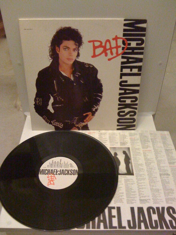 Michael Jackson - BAD ,Vinyl LP Record