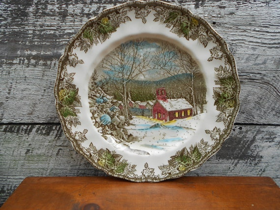 On Sale -DINNER PLATE -Johnson Bros The Friendly Village School House Dinner Plate