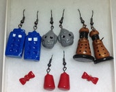 Reserved -- Dr. Who Earring Set