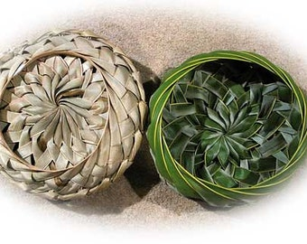 Palm Frond Bowl made out of Woven Palm Leaf and it's  ....All Natural