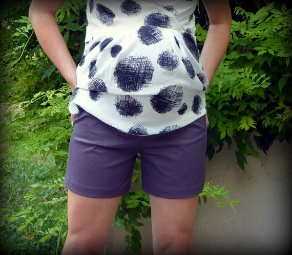 SALE - Summer Maternity Shorts with Pockets (was 30USD)