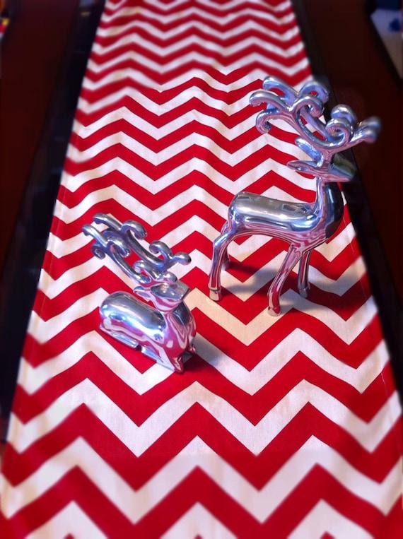Red Chevron Table Runner