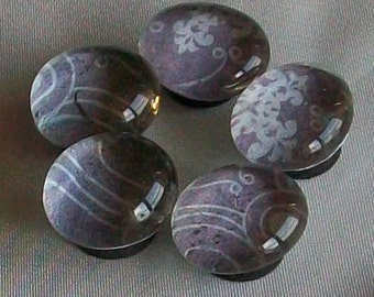 Small Decorative Glass Marble Magnets