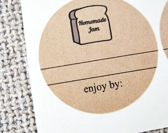 Homemade Jam Labels. Mason Jar Labels. Jam Jar Labels. Custom Labels. Canning Labels. Favor Labels. Round Labels. Mason Jar Seals.