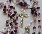 OOAK Victorian Amethyst  Unbreakable SS  Rosary