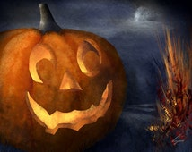 Pumpkin Jack - Halloween art Jack O'Lantern