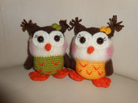 Two baby owls - RESERVED item for Eva-Anne