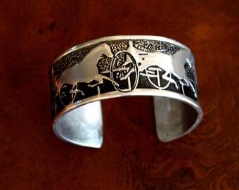 Horse bracelet, Harness Horse Racing Cuff Bracelet handmade