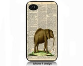 Elephant Dictionary Page i phone 4 case, iphone 4s cover
