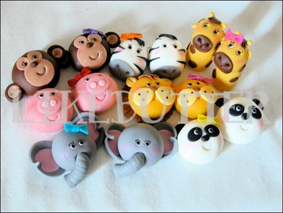Items similar to Noah's Ark Animal Cake Toppers by ...