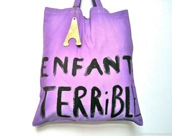 CUSTOM Enfant Terrible Horrible Child cotton TOTE Bag / EVEDAMONFrance