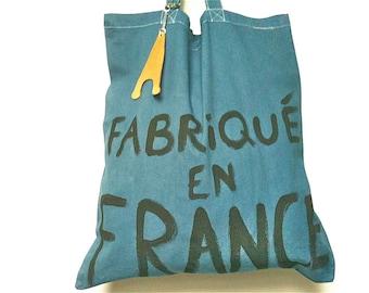 CUSTOM Fabriqué en France Slow Fashion Eco TOTE Bag / Eve Damon