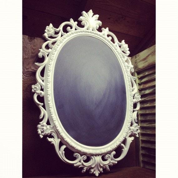 Large oval ornate chalkboard/mirror
