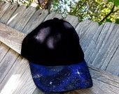 Galaxy Nebula Cap Hat Black Adjustable Teen Kids Ball Cap
