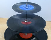 3 Tier Retro Record Cup Cake Stand