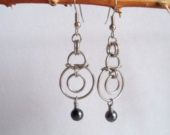 Suspended Circles Chainmaille Earrings