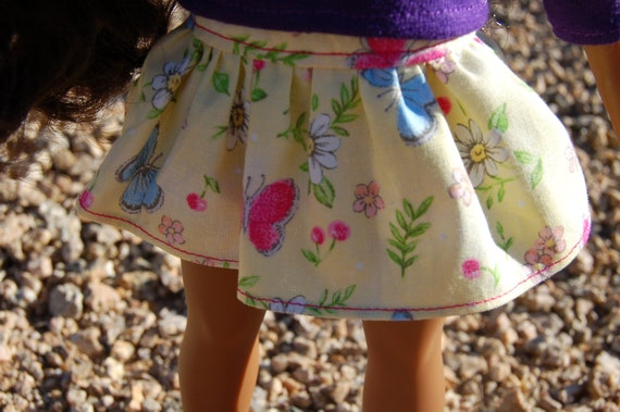 "Flippy skirt for 14"" doll"
