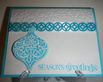 Seasons Greetings Ornament Card