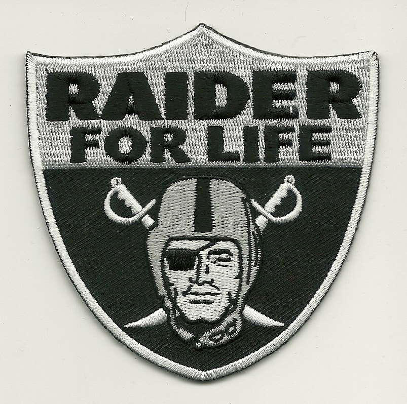 Raiders Patch Raider For Life By Patchclub On Etsy