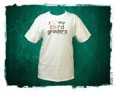 "Elementary School Teacher T-Shirt - ""I heart my students"""