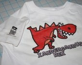 Dinosaur Shirt for Toddlers with name customization