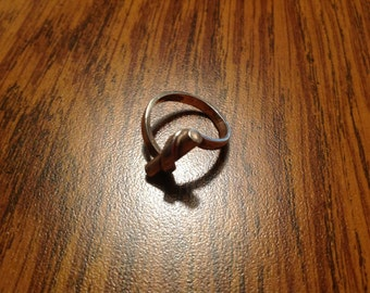 Vintage Sterling Silver Scroll Ring