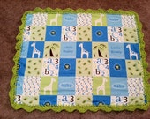 Baby Flannel Blanket Lovey with Crochet Edging