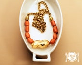 Baked Bean and Golden Peanut Necklace