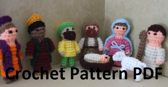 Items similar to Nativity Scene Mini Amigurumi Crochet ...