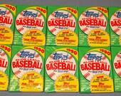 10 Vintage Packs of 1990 Topps Baseball Cards Packs - 16 Bubble Gum Cards in Each Pack