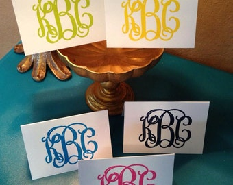 Monogrammed Stationery, monogrammed note cards, monogrammed stationary, monogrammed thank you notes, personalized notes