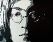 John Lennon Portrait Mini Canvas Art 5x4 inches