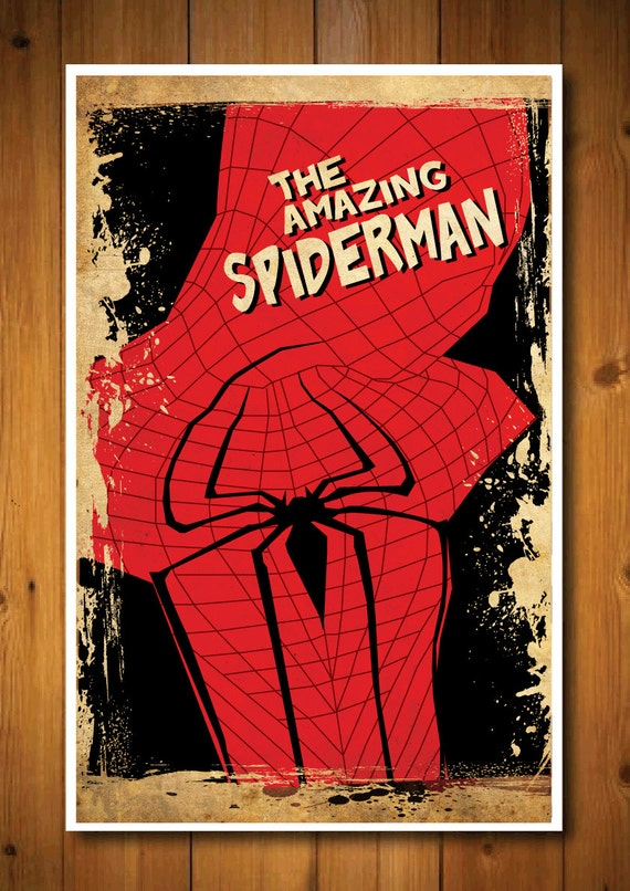 Retro Movie Poster - The Amazing Spiderman