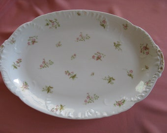 French Antique Vintage 100+ years Havilland Limoges platter H & Co shabby chic garden chic