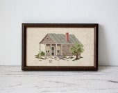 Vintage Cross Stitch- Framed Grocery Store