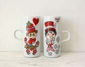 Vintage Arnart Royal Crown Smug Mugs Set of 2 I Love You by Kitty
