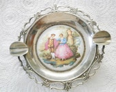 Vintage Metallic Ashtray The Photo Fragonard's