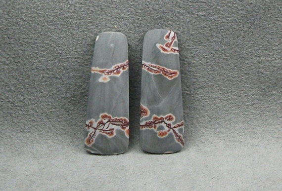 SONORA DENDRITIC RHYOLITE Matched Pair Cabochons