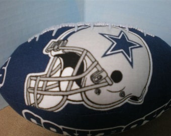 Miniature Dallas Cowboys Football with Helmet Image