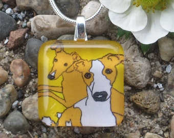 Greyhound Necklace - Brothers