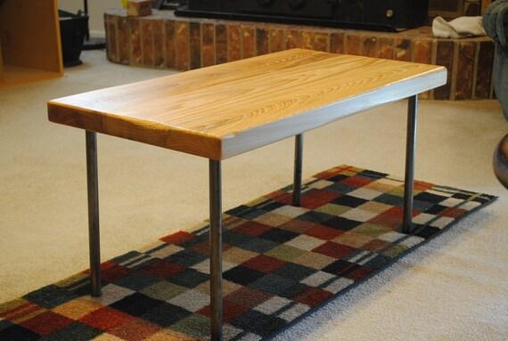 Metal Leg Coffee Table Natural Cypress