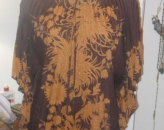 vintage pleated top
