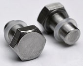 2 Gauge Bolt Plugs - body jewelry for stretched ears